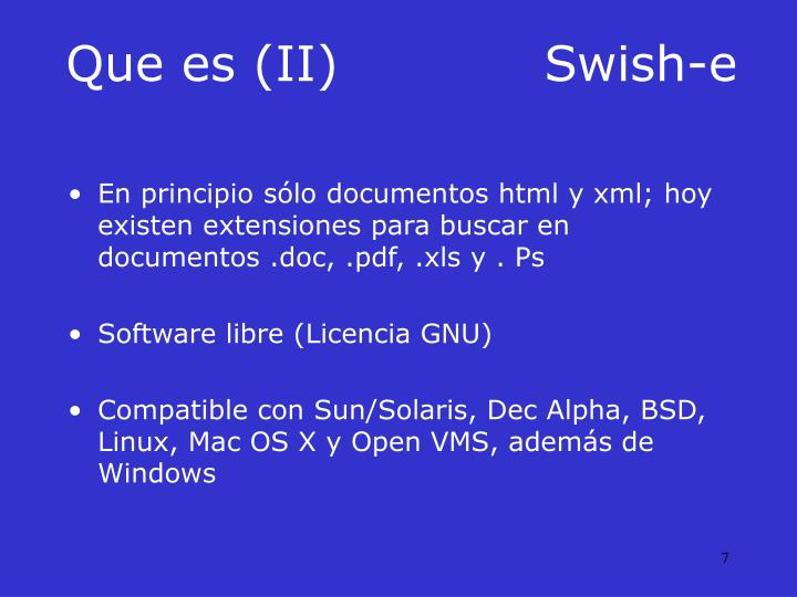Que es (II)Swish-e