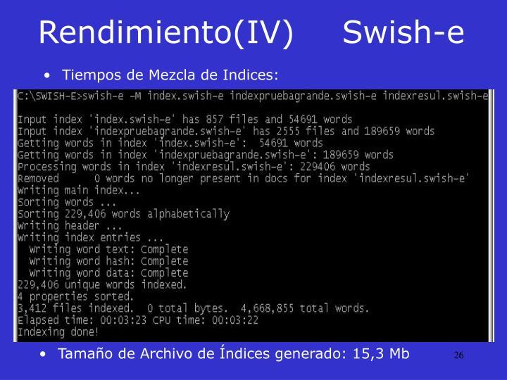 Rendimiento(IV)Swish-e