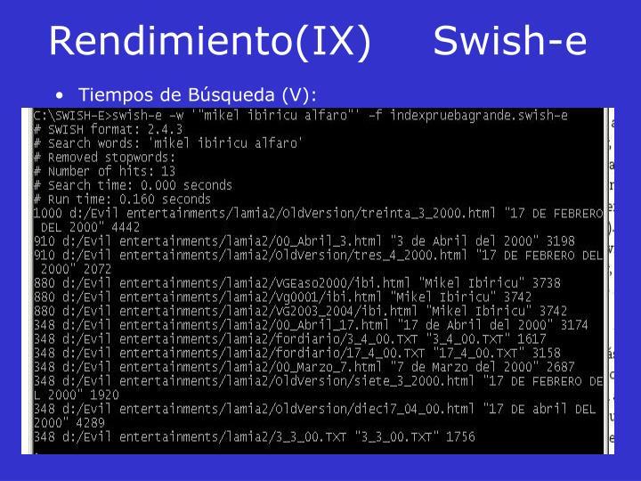 Rendimiento(IX)Swish-e