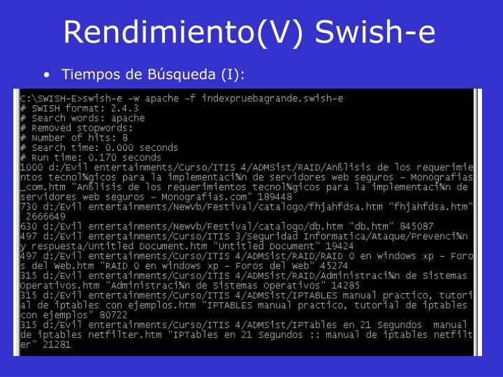 Rendimiento(V)Swish-e