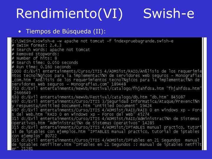 Rendimiento(VI)Swish-e