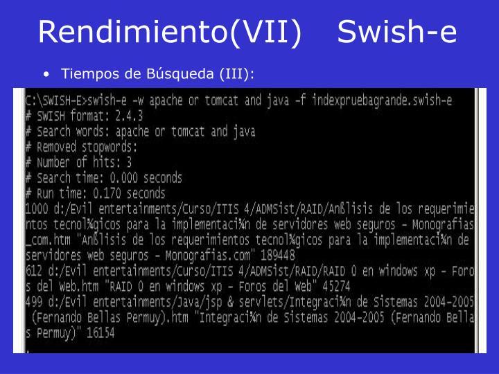 Rendimiento(VII)Swish-e