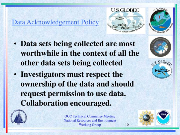 Data Acknowledgement Policy