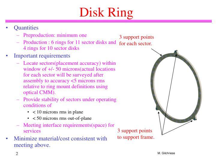Disk ring