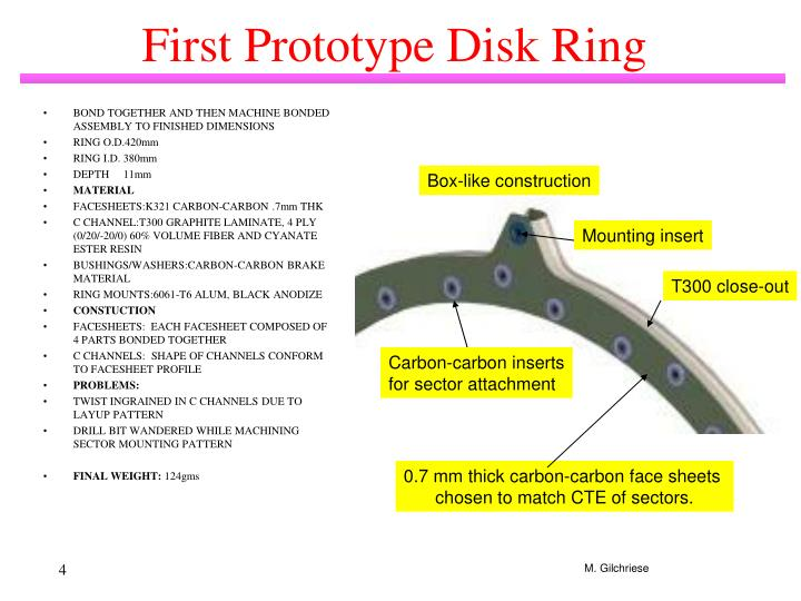 First Prototype Disk Ring