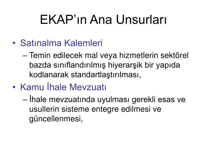 EKAP'ın Ana Unsurları