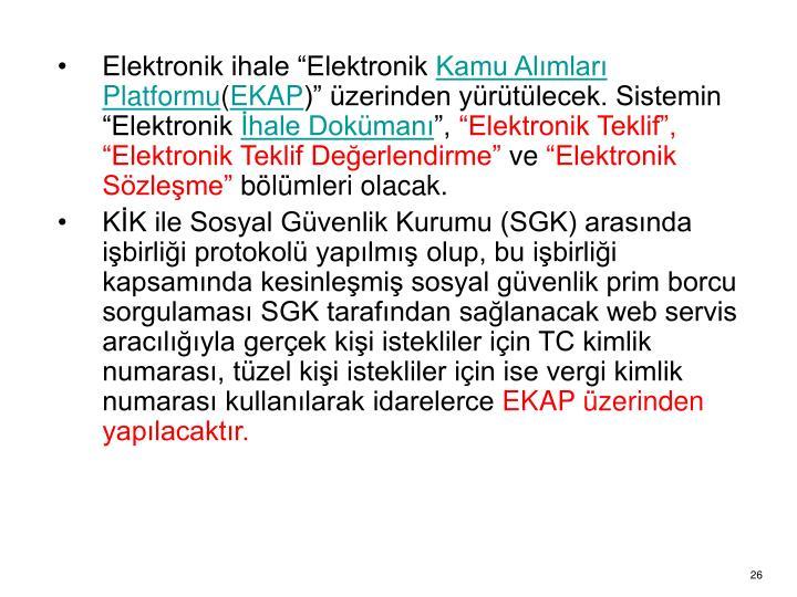 "Elektronik ihale ""Elektronik"