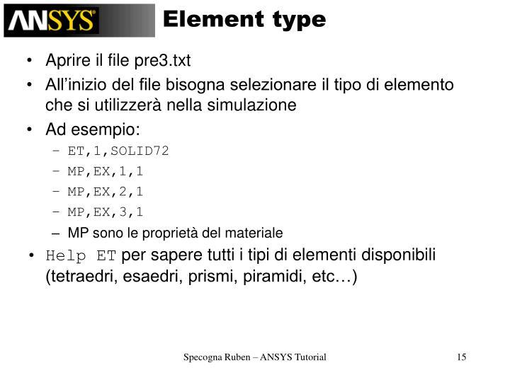 Element type