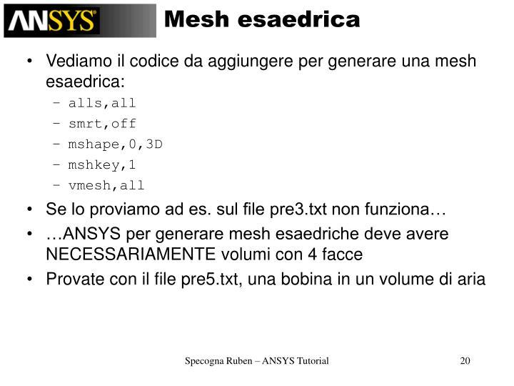 Mesh esaedrica