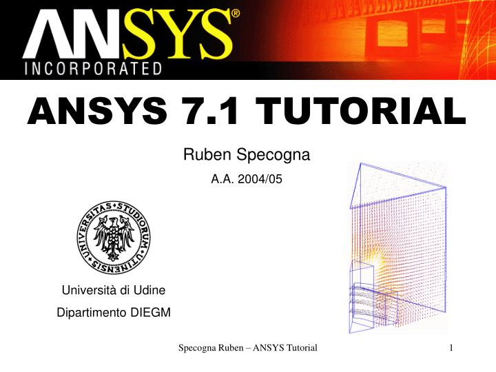 ANSYS 7.1 TUTORIAL