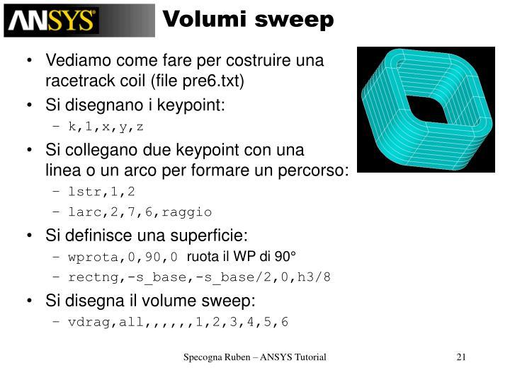 Volumi sweep