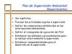 plan de supervisi n ambiental requerimientos