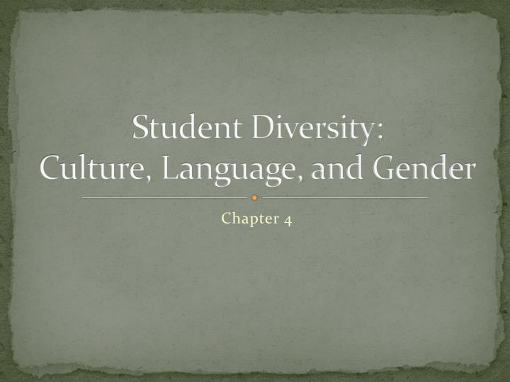 student diversity culture language and gender n.