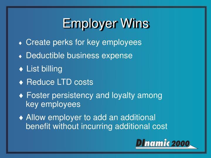 Employer Wins