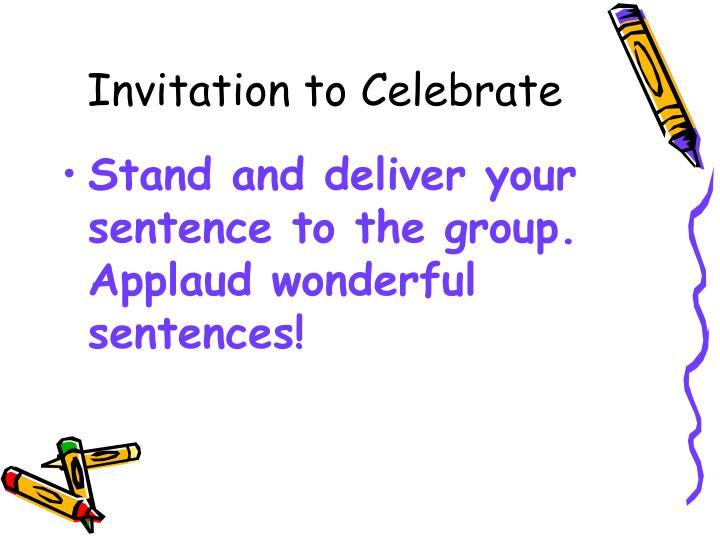 Invitation to Celebrate