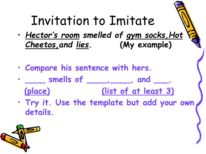 Invitation to Imitate