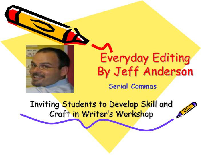 Inviting students to develop skill and craft in writer s workshop