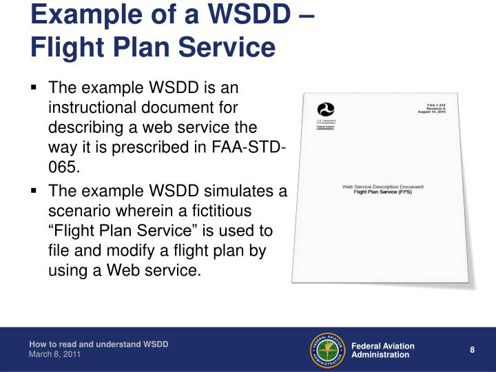 Example Of A WSDD Flight Plan Service