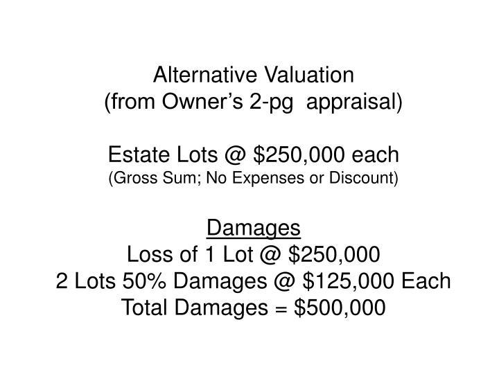 Alternative Valuation