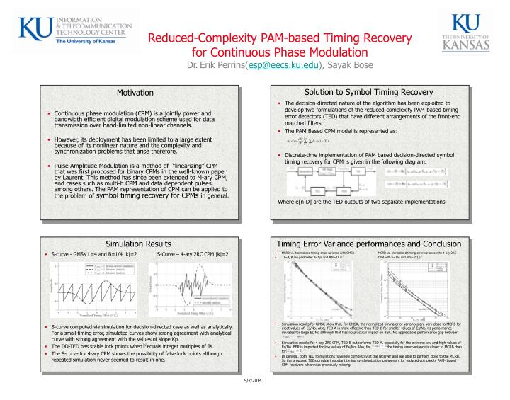 Reduced-Complexity PAM-based Timing Recovery