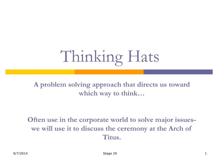 thinking hats n.