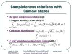 completeness relations with gamow states