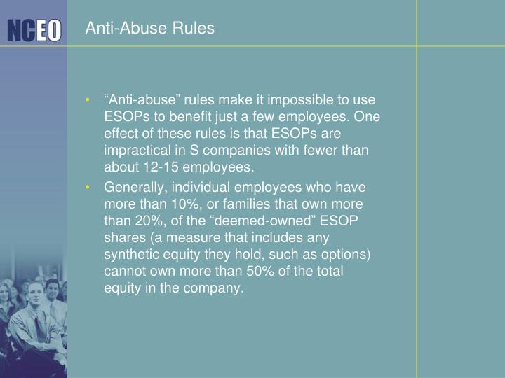 Anti-Abuse Rules