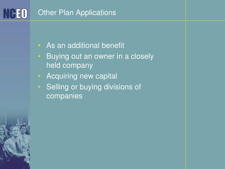 Other Plan Applications