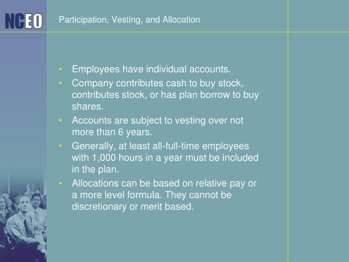Participation, Vesting, and Allocation