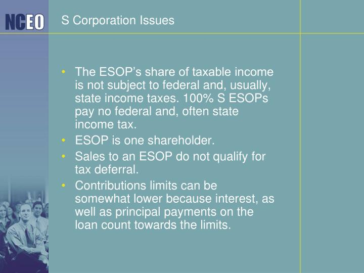 S Corporation Issues