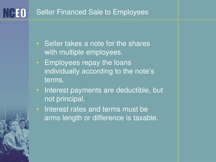 Seller Financed Sale to Employees