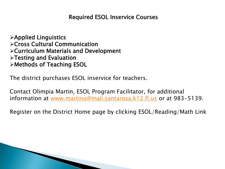 Required ESOL