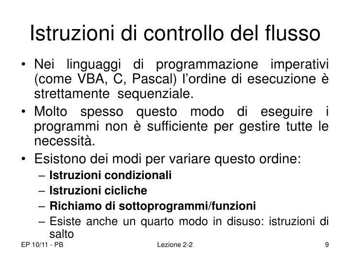 Istruzioni di controllo del flusso