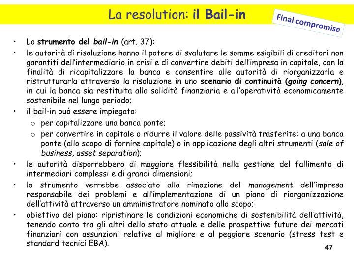 La resolution: