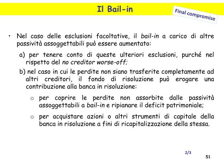 Il Bail-in
