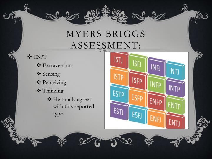Myers Briggs ASSESSMENT: