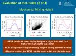 evaluation of met fields 2 of 4