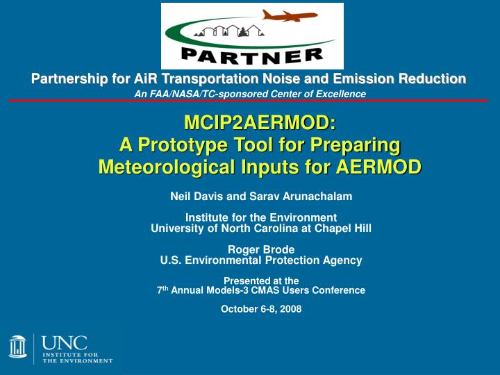 mcip2aermod a prototype tool for preparing meteorological inputs for aermod n.