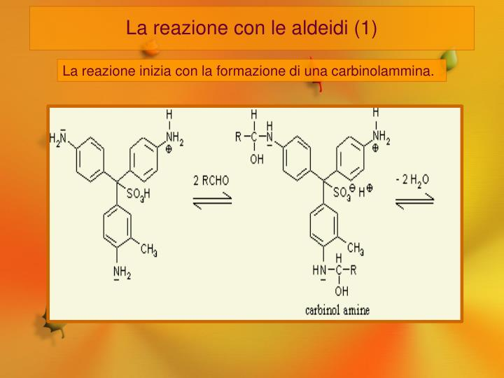 La reazione con le aldeidi (1)