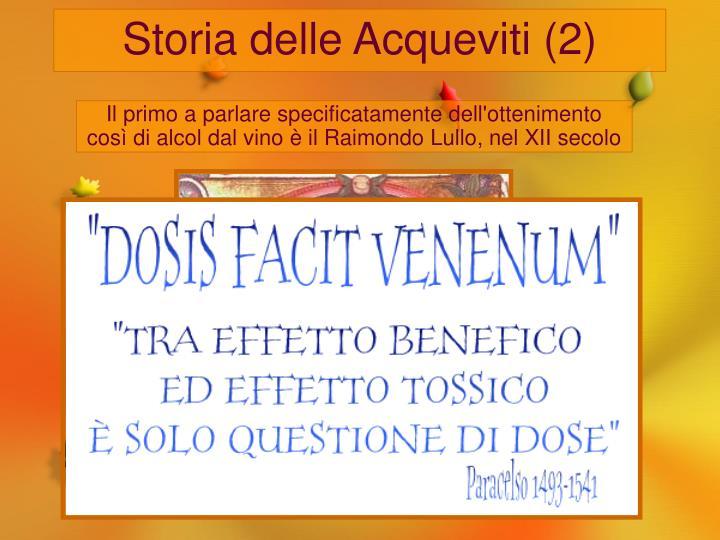 Storia delle Acqueviti (2)