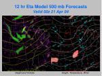12 hr eta model 500 mb forecasts valid 00z 21 apr 04