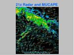 21z radar and mucape