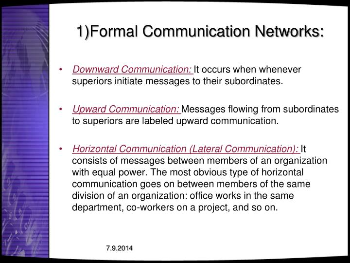 types of communication networks in organizations