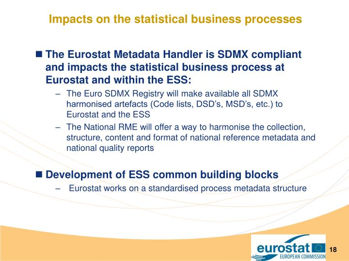 Impacts on the statistical business processes