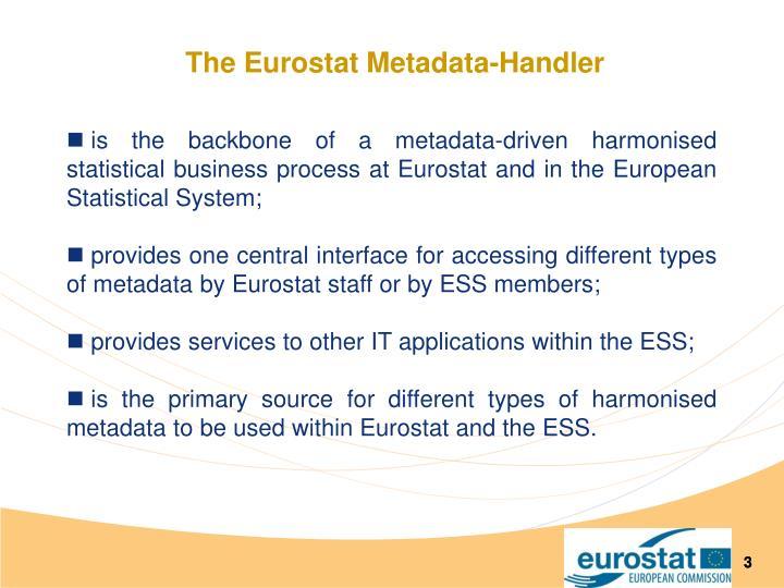 The eurostat metadata handler