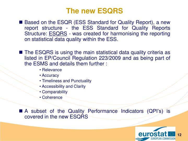 The new ESQRS