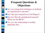 frequent questions objections