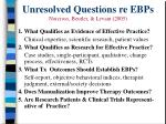 unresolved questions re ebps norcross beutler levant 2005