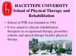 hacettepe university school of physical therapy and rehabilitation