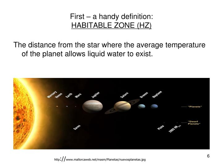 Ppt our unique planet with notes provided by david - Definition surface habitable fiscale ...